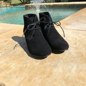 Cute Black Wedge Booties!